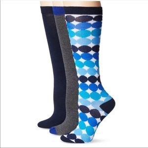 Betsy Johnson Three Pairs Knee Socks